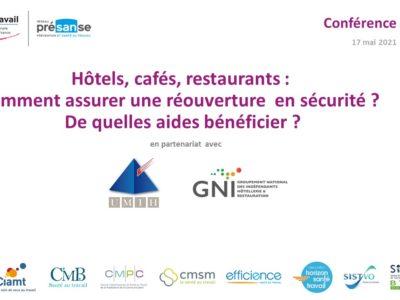 Hôtels, cafés, restaurants : comment assurer une réouverture en sécurité ? De quelles aides bénéficier ? – Replay en ligne