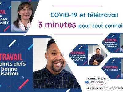 Covid-19 et télétravail : 3 minutes pour tout connaître