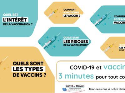 Covid-19 et vaccins : 3 minutes pour tout connaître