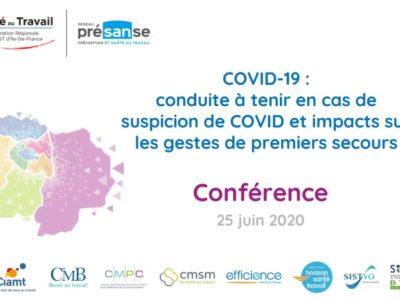 COVID-19 : procédure en cas de suspicion et impacts sur les gestes de premiers secours – Support en ligne