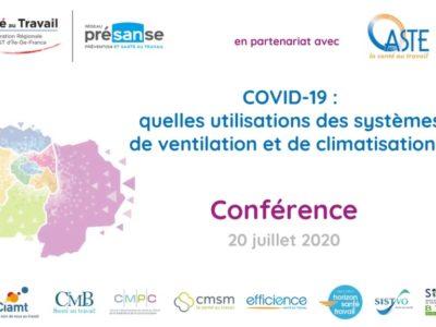 COVID-19 : quelles utilisations des systèmes de ventilation et de climatisation ? – Support en ligne
