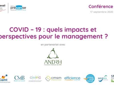 COVID-19 : quels impacts et perspectives pour le management ? – Support en ligne